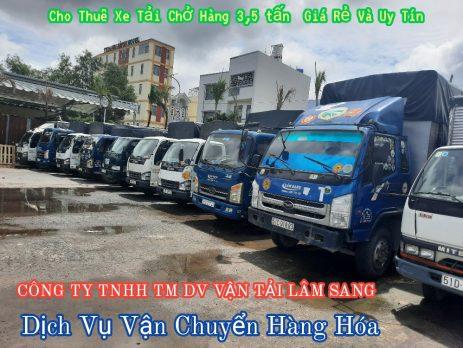 Xe tải chở hàng 3.5 tấn - vận tải Lâm Sang