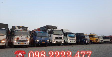 Xe tải chở hàng 9 tấn-vận tải lâm sang