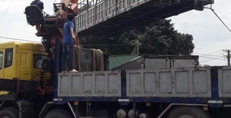 Cho thuê xe cẩu hàng tại Quận 1 - Vận tải Lâm Sang