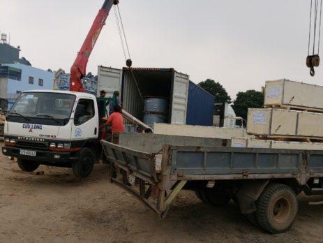 Dịch vụ cho thuê xe cẩu hàng tại thị xã Dĩ An