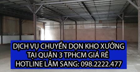 Chuyển dọn kho xưởng tại Quận 3 – Cty vận tải Lâm Sang