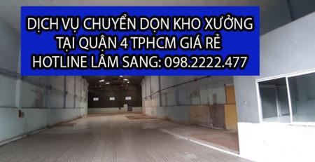 Chuyển dọn kho xưởng tại Quận 4 giá rẻ - Lâm Sang