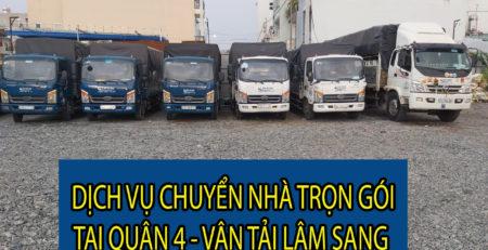 Dịch vụ chuyển nhà trọn gói tại Quận 4 - Vận tải Lâm Sang