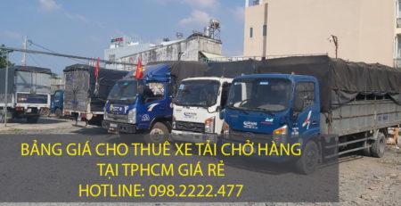 Giá thuê xe tải chở hàng tại tphcm – Vận tải Lâm Sang