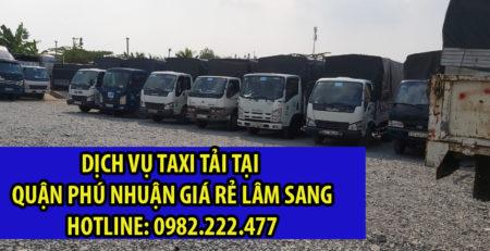 Taxi tải Quận Phú Nhuận giá rẻ và uy tín