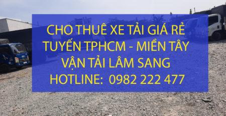 Cho thuê xe tải giá rẻ từ TPHCM đi các tỉnh Miền Tây