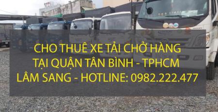 Chuyên cho thuê xe tải chở hàng tại Quận Tân Bình – Vận tải Lâm Sang