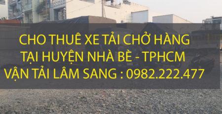Công ty Lâm Sang chuyên cung cấp dịch vụ chở hàng tại huyện Nhà Bè.