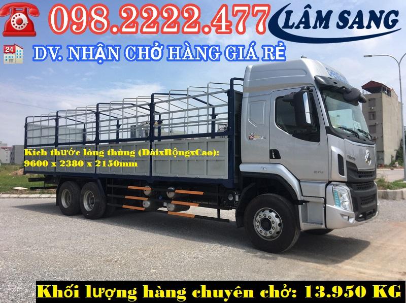Xe tải chở hàng trọng tải từ 5 đến 15 tấn giá rẻ tại TPHCM