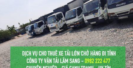 Dịch vụ cho thuê xe tải lớn từ TPHCM đi tỉnh