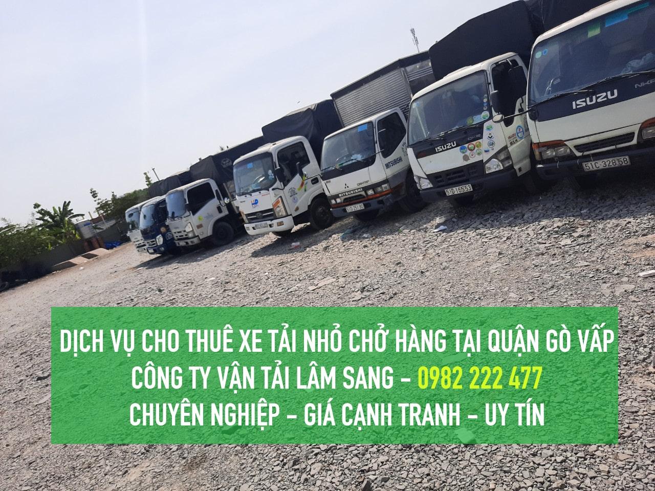 Dịch vụ cho thuê xe tải nhỏ tại Gò Vấp