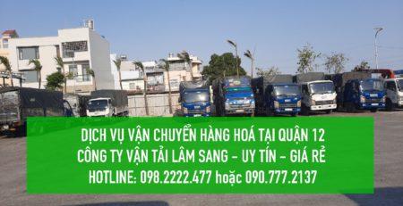 Dịch vụ vận chuyển hàng hoá Quận 12 – công ty vận tải Lâm Sang