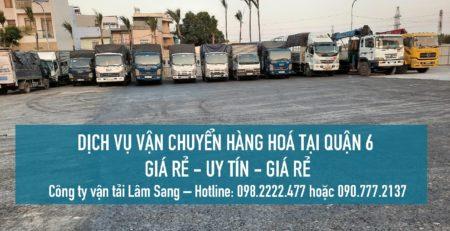 Dịch vụ vận chuyển hàng hoá Quận 6