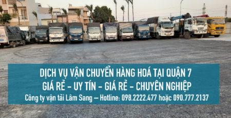 Dịch vụ vận chuyển hàng hoá Quận 7 – vận tải Lâm Sang