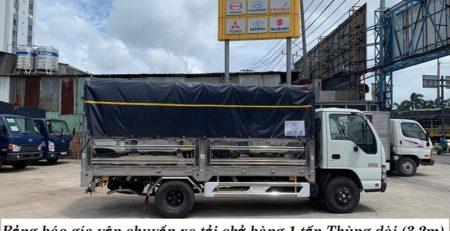 Bảng báo gía vận chuyển xe tải chở hàng 1 tấn