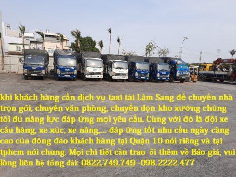 Taxi tải Quận 10 giá rẻ