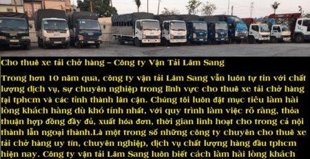 Xe tải chở hàng chuyển nhà Hóc Môn