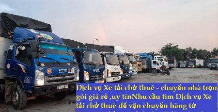 Dịch vụ Xe tải chở thuê - chuyển nhà trọn gói
