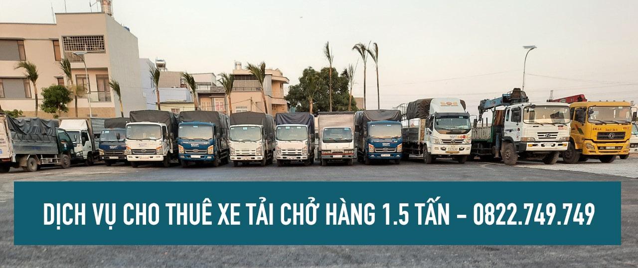 Xe tải chở hàng 1.5 tấn cho thuê tại TPHCM