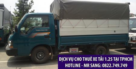 Dịch vụ cho thuê xe tải 1.25 tấn giá rẻ - uy tín tại tphcm