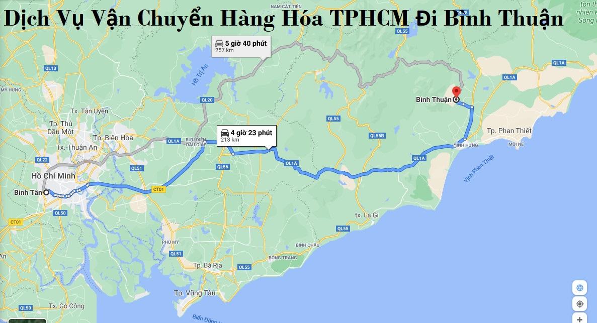 Dịch Vụ Vận Chuyển Hàng Hóa TPHCM Đi Bình Thuận