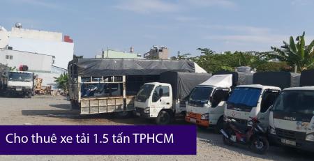 Xe tải 1.5 tấn chở hàng tại TPHCM