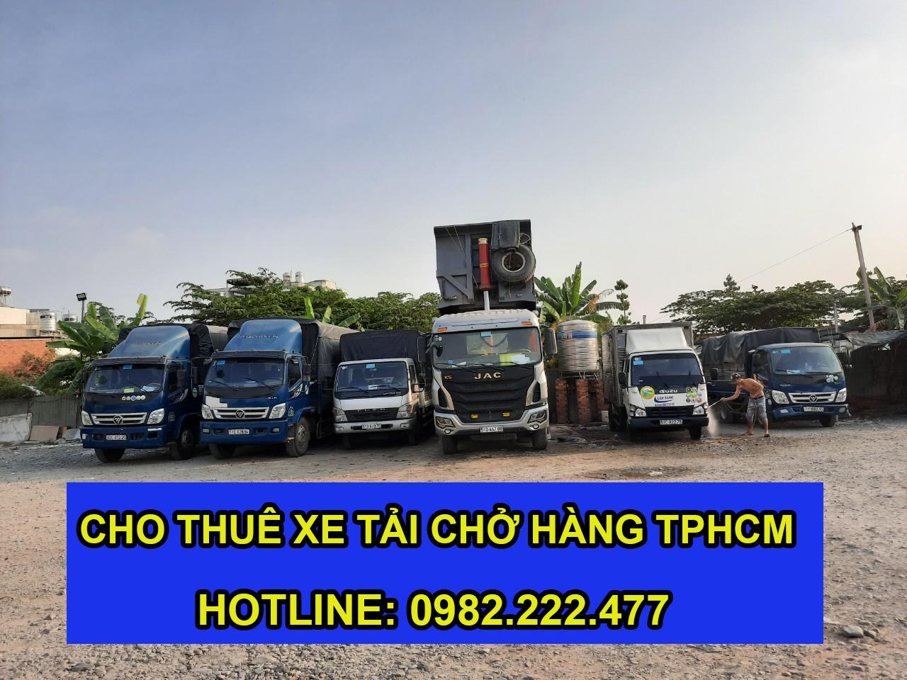 Dịch vụ cho thuê xe tải chở hàng giá rẻ tphcm