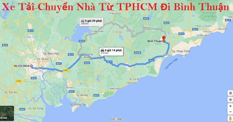 Dịch Vụ Xe Tải Chuyển Nhà Từ TPHCM Đi Bình Thuận