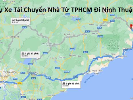 Dịch Vụ Xe Tải Chuyển Nhà Từ TPHCM Đi Ninh Thuận