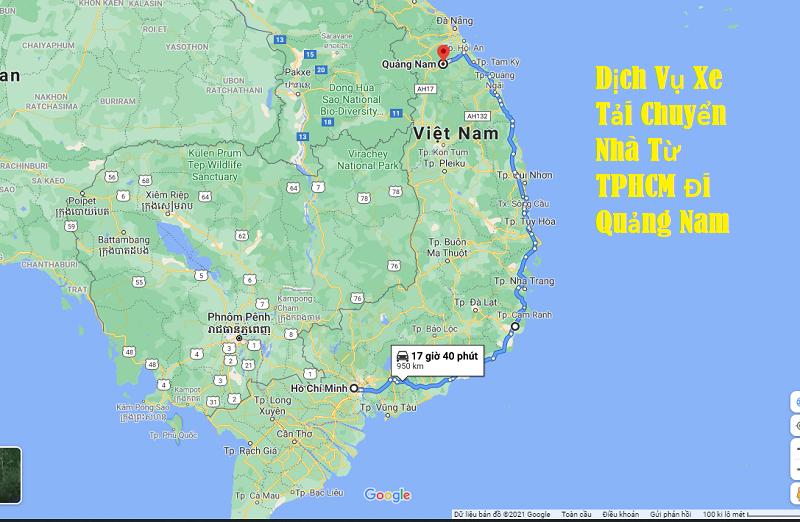 Dịch Vụ Xe Tải Chuyển Nhà Từ TPHCM Đi Quảng Nam